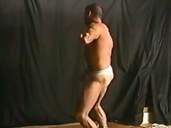 Muscular dude dances for you to enjoy