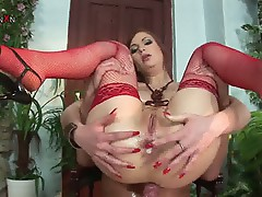 Sweet anal creampie momma riding monster young cock