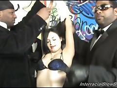 Tatianna kush gaging by some black dicks