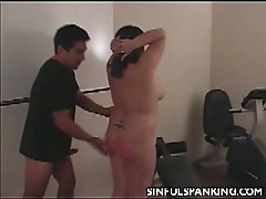 Chubby slut gets punished for dragging her lazy ass