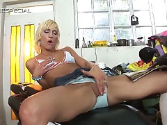 Horny blonde looks for a hard cock after masturbating