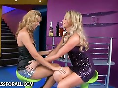 Natalia and Cindy's dildo fun