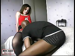 Mature babe invites home a black guy for his hard black cock