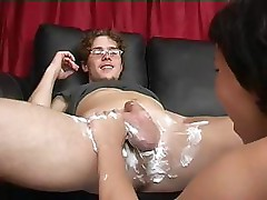 Mom Shaves Then Blows Boy&#039;s Cock
