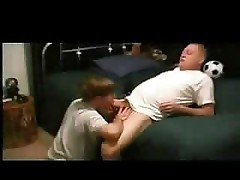Daddy hard blowjob and anal with twink
