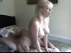 Mom gets in a good session of sucking and fucking on her buddy