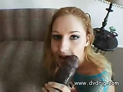Lauren Phoenix uses black dildo and changes to real black cock