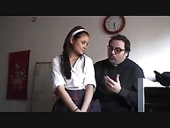 Susana Abril gets this clergyman to fuck her on his bed anyway