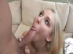 Natalie Norton sucks on a cock and then shoves it up shaved pussy