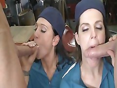 Bobbi Starr and Alexis malone give two dudes some good hot fucking
