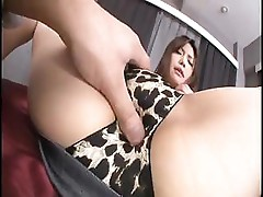 Asian girl is played with, sucks cock and then gets fucked hard