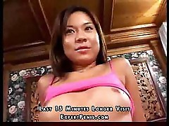 Horny Japanese babe is all tied up but wants some hard cock
