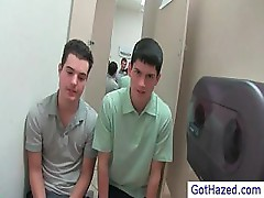 Two young boys about to get some hazing by gothazed