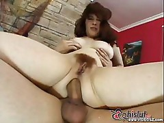 Mature redhead Mae Victoria is getting ass fucked by hard cock