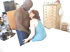 This gal takes her time sucking and fucking this hard black cock