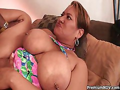 Mature chubby gets her ass ripped apart by a big black dick