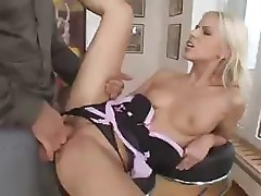 Skinny Hungarian porn star shows off her skills at fucking