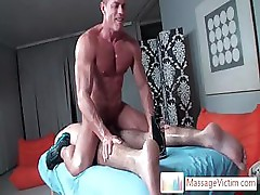Guy gets his cute anus filled with toy by massagevictim
