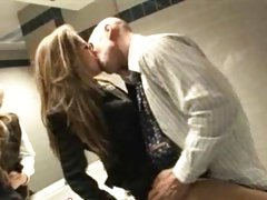 Horny secretary Jenna Haze makes out with her boss