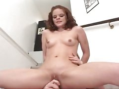 A stiff dick pierces petite nymph Tabitha Banks' puckered pussy