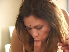 Alluring bitch spreads her lips round a hard boner