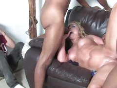 Flower Tucci gets her son to watch her sucking dick