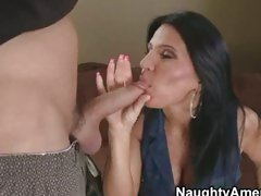 Milf Kendra Secrets loves getting a throat meal from her stud of the day