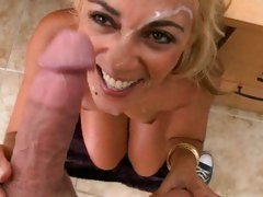 Mischievous milf Jazella Moore gets fucked hard and sprayed in the face