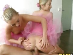 Ballerina Natalia Rossi and young friend love blowing and riding dick