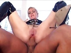 Anal whore Julie Meadows gets her tight ass pulverized