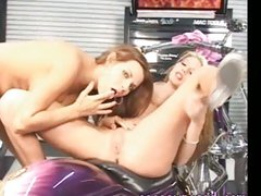 Nicole Graves and her hot friend on a hot lesbian pussy eating