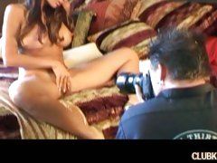 Katsumi plays with her hot asian pussy for the camera for this scene.