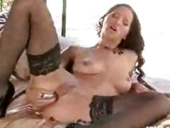 Dildo loving Angel Dark pumps her pussy until spasms of pleasure erupt.