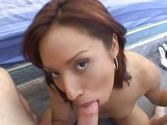 Amazing Jasmine Byrne gobbles down this fuck shaft