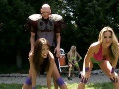 Alluring Capri Cavalli & Kayla Paige tease this cock