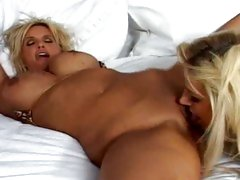 After a good fuck Brooke Belle slurps up Rhyse Richardson's hot pussy juice