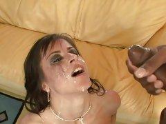 Slapper Cecilia Vega gets showered in hot dick juice