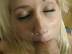 Rocco Siffredi stuffs his huge cock in this sluts mouth