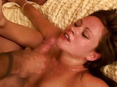 Sindee Jennings in a great fuck session being pounded and covered in cum