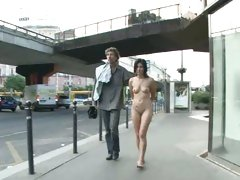 Slut Lucy Belle is paraded naked through the streets