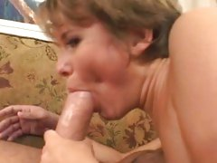 Nasty Claire Robbins spreads her lips round a huge dick