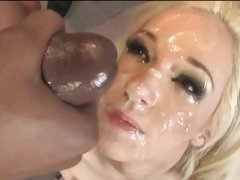 Cum Whore Jada Stevens is doused in cock sauce