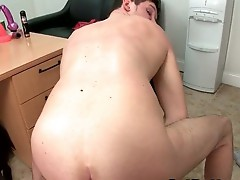 Hot gay guy gets his ass buttered hard
