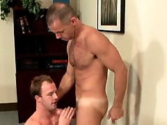Dude with hardon gets assfucked and cock