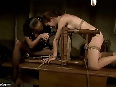 Mandy Bright dominating sexy slavegirl