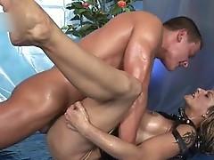 Horny bitch sucks some worthy cock