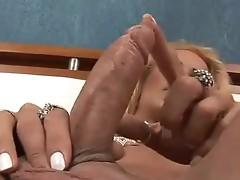 Busty Grazielle shemale masturbation