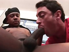 Guy getting his mouth destroyed by huge black cock By Guydestroyed
