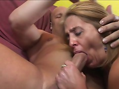 CAndy's old cum-hole takes a Beating from a younger Mans ramrod