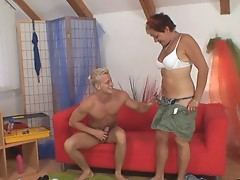 Granny begging boy to fuck her video